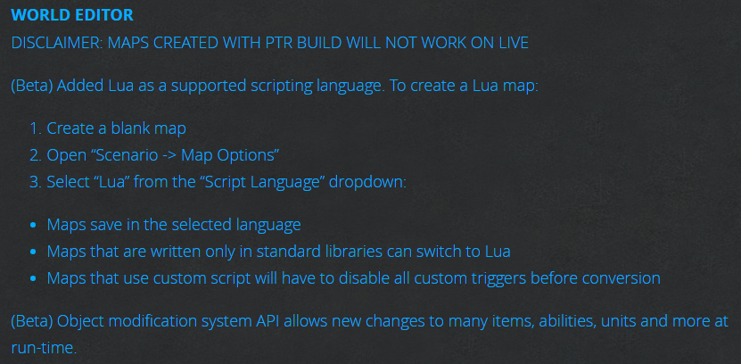 Patch 1 31 is on PTR, big changes in WE - Site News & Updates - WC3